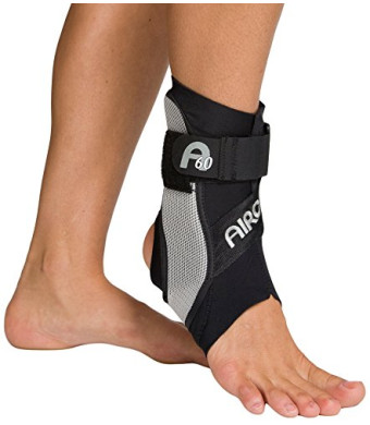 Aircast A60 Ankle Support Brace, Right Foot, Black, Medium