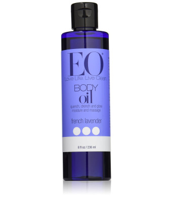 EO - Body Oil massage and moisturize, French Lavender, 8 oz liquid