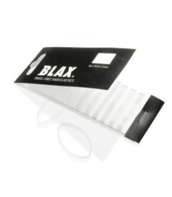 4mm CLEAR Hair Elastics 8 ct by Blax