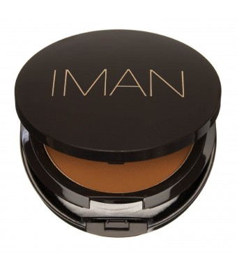 Iman Cosmetics Luxury Pressed Powder, Earth Medium