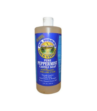 Dr Woods Products Pure Peppermint Castile Soap with Organic Shea Butter 32 oz