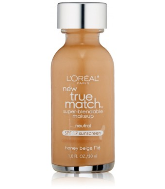 L'Oreal Paris True Match Super Blendable Makeup, Honey Beige, 1.0 Ounces