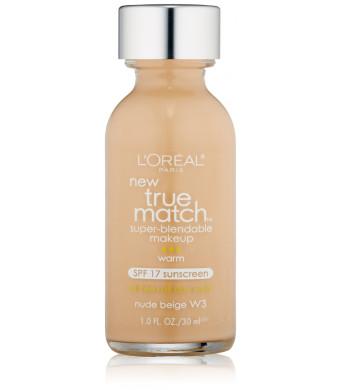 L'Oreal Paris True Match Super Blendable Makeup, Nude Beige, 1.0 Ounces