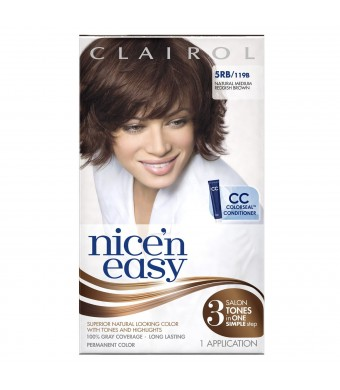 Clairol Nice 'n Easy 5RB 119B Natural Medium Reddish Brown 1 Kit(Pack of 3)