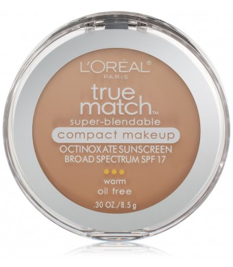 L'Oreal Paris True Match Super-Blendable Compact Makeup, Nude Beige, 0.30 Ounces