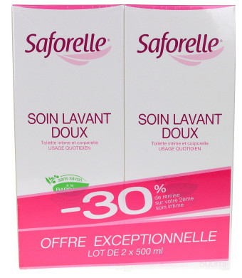Saforelle Gentle Cleansing Care 2X500ml
