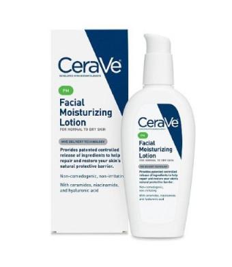 CeraVe Moisturizing Facial Lotion PM, 3 Ounce