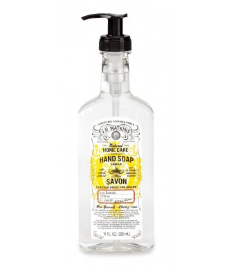 J.R. Watkins Liquid Hand Soap Lemon, 11 Fluid Ounce
