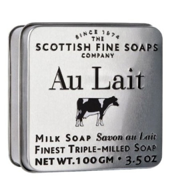 The Scottish Fine Soaps Company Au Lait Milk Soap In A Tin (100g)