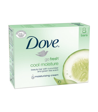 Dove Beauty Bar, Cool Moisture 4 oz, 8 Bars Twin Pack