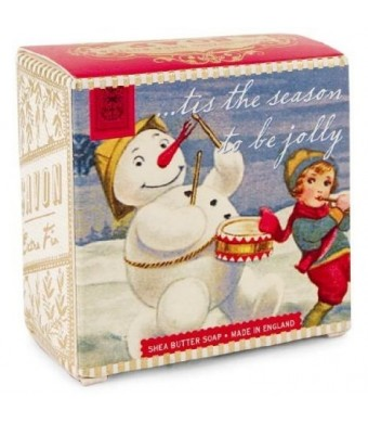 Michel Design Works Snowman Winter Floral Little Soap