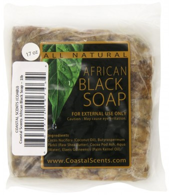 Coastal Scents African Black Soap, 16 Ounce