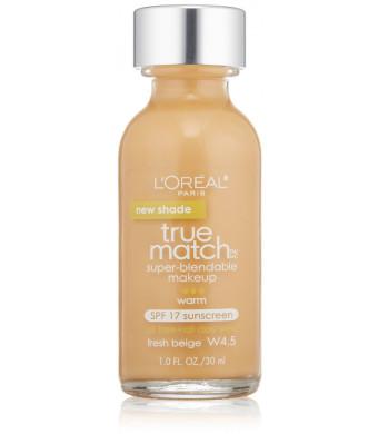 L'Oreal Paris True Match Super Blendable Makeup, Fresh Beige W4.5, 1.0 Ounces