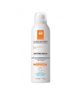 La Roche-Posay Anthelios 60 Ultra Light Sunscreen Spray Lotion, 5 Ounce