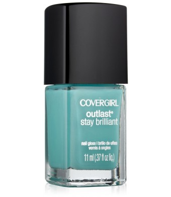Covergirl Outlast Stay Brilliant Nail Gloss, Mint Mojito 285, 0.37 Ounce