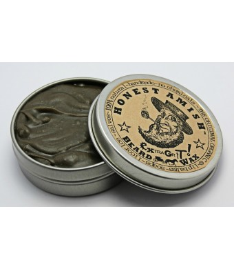 Honest Amish Extra Grit Beard Wax - Natural and Organic - Hair Paste and Hair Control Wax