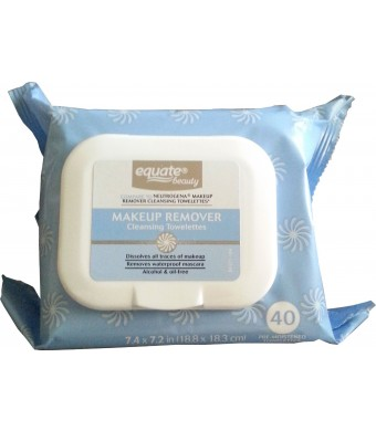 Makeup Remover Cleansing Towelettes 40ct by Equate Compare to Neutrogena Makeup Remover Cleansing Towelettes