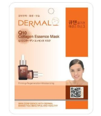 Dermal Korea Collagen Essence Full Face Facial Mask Sheet - Q 10 (10 Pack)