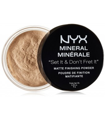 NYX Cosmetics Mineral Finishing Powder, Light/Medium, 0.28 Ounce