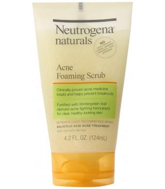 Neutrogena Naturals Acne Foaming Scrub, 4.2 Ounce