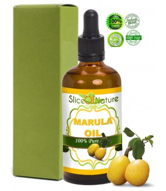 Slice of Nature 100% Pure Marula Oil for Face, Body and Hair - Perfect Natural Skin Moisturizer - Also Ideal Natural Skin Care Antioxidant Serum or M
