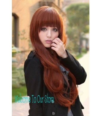 XandY ANGEL New Fashion Kanekalon Long Wavy Sexy Hair Wig Wigs Wine Red K001