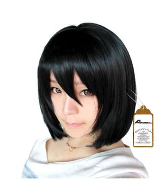 Free Hair Cap + Attack on Titan Mikasa Ackerman Cosplay Wig