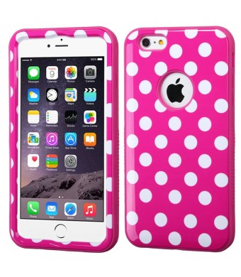 MyBat iPhone 6 Plus VERGE Hybrid Protector Cover - Retail Packaging - Pink/White