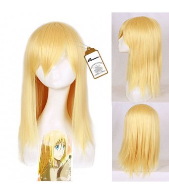 Free Hair Cap + Attack on Titan Krista Lenz Cosplay Wig Costume Wigs