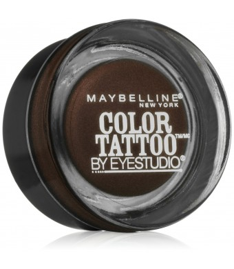 Maybelline New York Eye Studio Color Tattoo Leather 24 HR Cream Gel Eyeshadow, Chocolate Suede, 0.14 Ounce