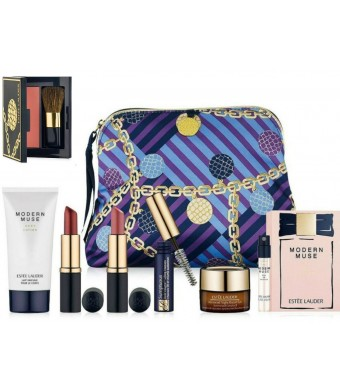 NEW Estee Lauder 2014 Fall 8 Pcs Skincare Makeup Gift Set $125+ Value with Cosmetic Bag