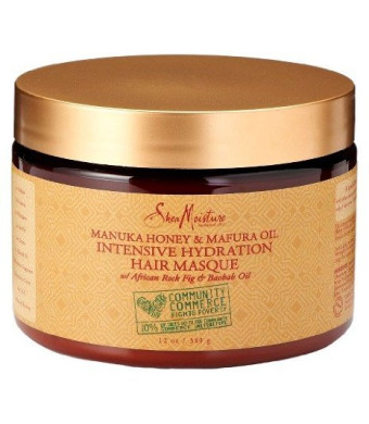 SheaMoisture Manuka Honey and Mafura Oil Intensive Hydration Hair Masque, 12 oz