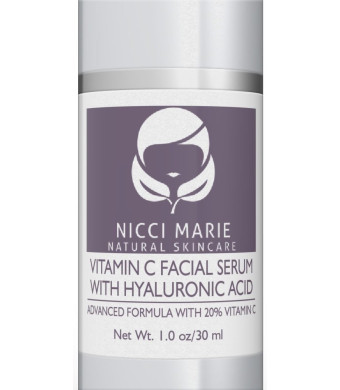 Vitamin C Serum for Face ~ Best 20% Vit C Anti Aging and Wrinkle Formula with Hyaluronic Acid and