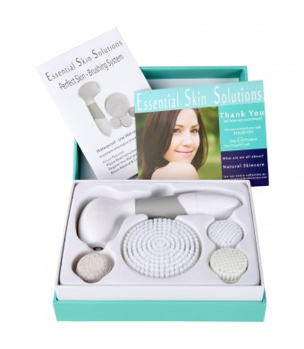 #1 BEST Skin Cleansing FACE and BODY BRUSH Microdermabrasion Exfoliator System - Pore Minimizer - Acne Spots and Acne Scar Treatment - Body Acne Remo