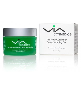Sea Whip Cucumber Soothing and Hydrating Gel - Cooling, Calming, Healing - Facial Gel Mask Enhanced with Hyaluronic Acid, Argan Oil, Botanical Extrac