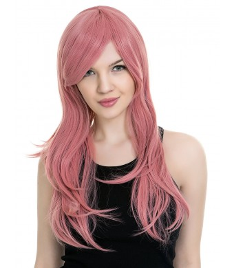 PINKISS High Quality Japanese Lolita Temperament Fashion Cosplay Wig with Free Quality Wig Cap (103 Pink Long Straight)