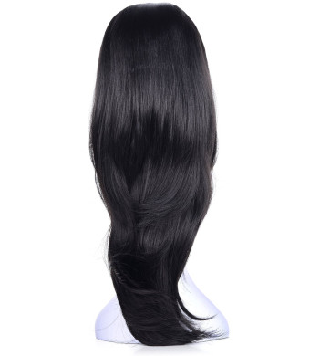 """OneDor 22"""" Slight Curly 3/4 Ladies Half Wig Kanekalon Hair Synthetic Wigs with Comb on a mesh head cap (R1)"""