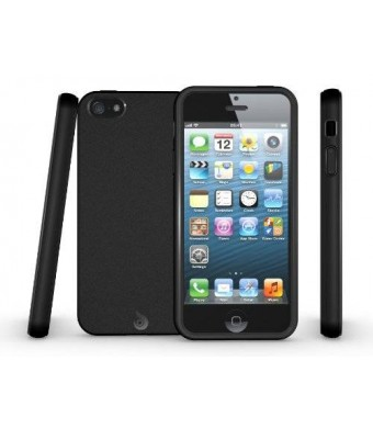 iPhone 5S Case, Diztronic Matte Back Black Flexible TPU Case for Apple iPhone 5 / 5S - Retail Packaging