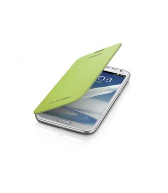 Samsung Galaxy Note 2 Flip Cover Case (Lime Green)