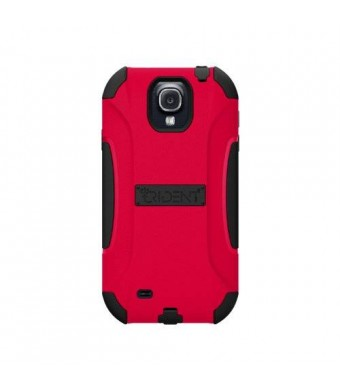 Trident Case AEGIS Series Protective for Samsung Galaxy S4/GT-I9500 - Retail Packaging - Red