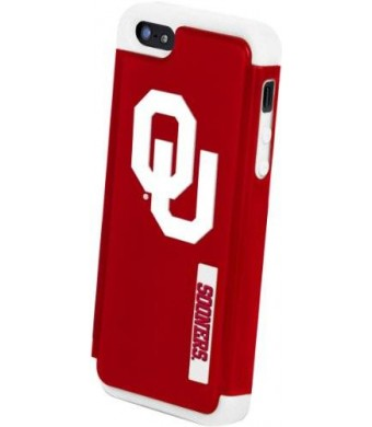 Forever Collectibles NCAA Oklahoma Sooners Dual Hybrid Hard Apple iPhone 5 / 5S Case