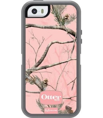 iPhone 5S Case- OtterBox Defender Case for iPhone 5/5S- Realtree Camo/Pink (Retail Packaging)(Works with TouchID)