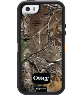 iPhone 5S Case- OtterBox Defender Case for iPhone 5/5S- Realtree Camo/Xtra Orange (Retail Packaging)(Works with TouchID)