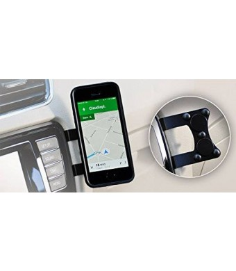 Mag'n'Mount Magnetic Cell Phone Holder-no drilling, no gluing, no suction cup