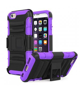 iPhone 6s Case - MoKo [Heavy Duty] Full Body Rugged Holster Cover with Swivel Belt Clip - Dual Layer Shock Resistant Apple iphone 6