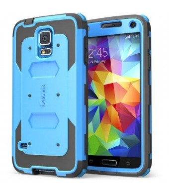 i-Blason Cell Phone Case for Samsung Galaxy S5 - Retail Packaging - Blue