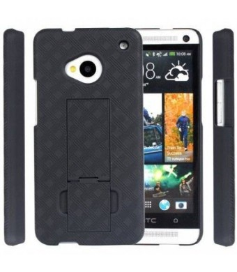 OEM Verizon Holster HTC One 6500 Case 3-in-1 Combo Includes Protective Case and Belt Clip Holster with Integrated Viewing Stand