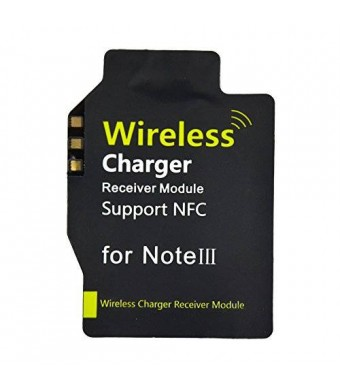 BestFire Brand New Ultra-thin Wireless Charging Receiver Support NFC for Samsung Galaxy Note III 3 N9000 N9005