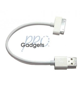 GadgetsPRO 30-pin to USB Cable for all Apple 30-pin devices - Short 0.2m/8in (Single pack)