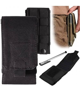 Urvoix(TM) Black Army Camo Bag For Mobile Phone Belt Pouch Holster Cover Case Size L